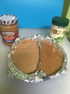 The peanut butter fudges... well at least one side is fudge