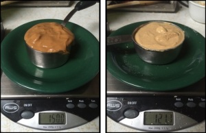 Natural Peanut Butter (left) and PB2 (right)