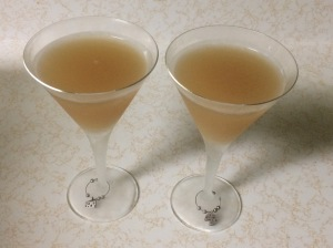 Two sidecar cocktails