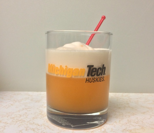 """Egg white foam generated with the """"dry shake"""" method."""