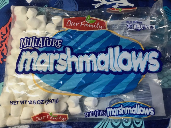 a store-brand bag of mini marshmallows