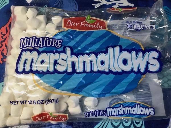 a store-brand bag of mini marshmallows