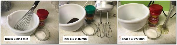composite image showing equipment used in bonus trials 5 through 7