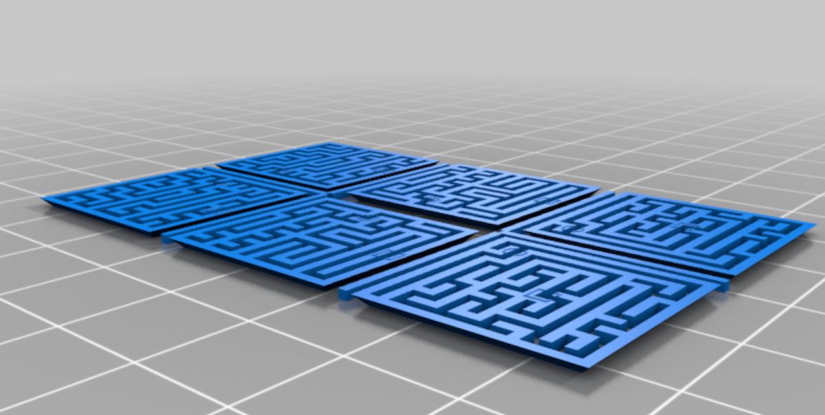 Unfolded 3D Maze